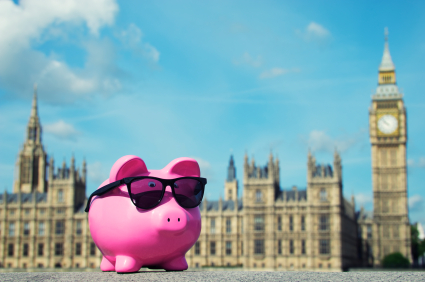 Piggy Wearing Sunglasses in London